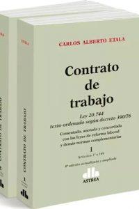 Descargar Contrato De Trabajo Ley 20744 ( 2 Tomos ) Etala Carlos Alberto