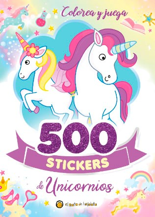 Libro 500 Stickers : Unicornios