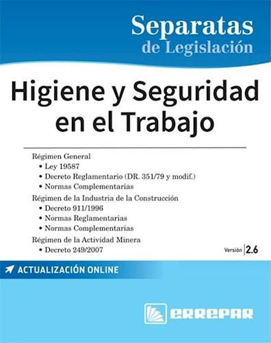 Libro Separatas De Legislacion : Higiene Y Seguridad En El Trabajo