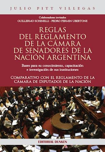 Libro Reglas Del Reglamento De La Camara De Senadores De La Nacion Argentina