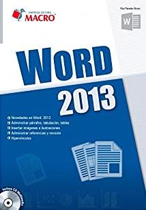 Libro Word 2013 C/Cd