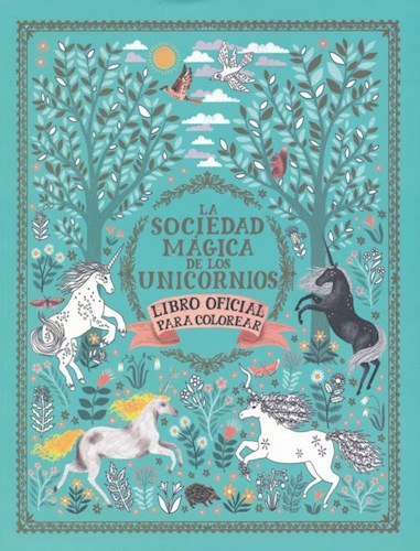 Libro Sociedad Magica Unicornios (Colorear)